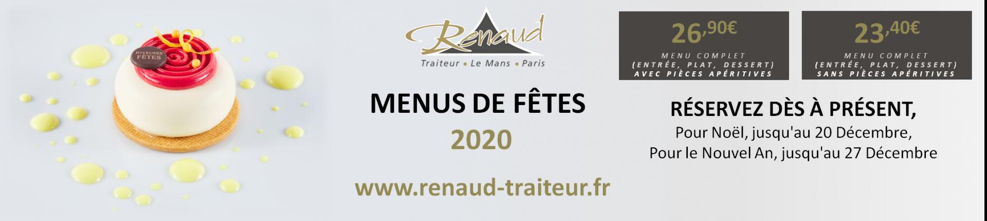MENUS DE FÊTES 2020